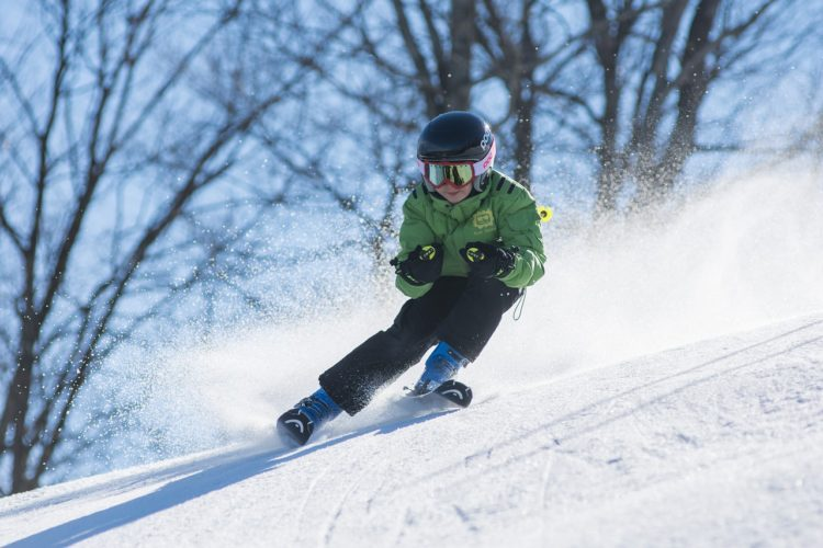 Downhill skiing at Butternut Ski Resort.