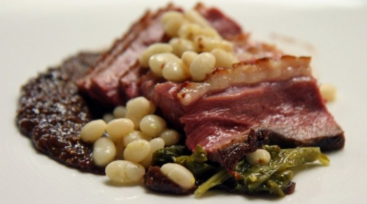 Pork Shank with beans & greens