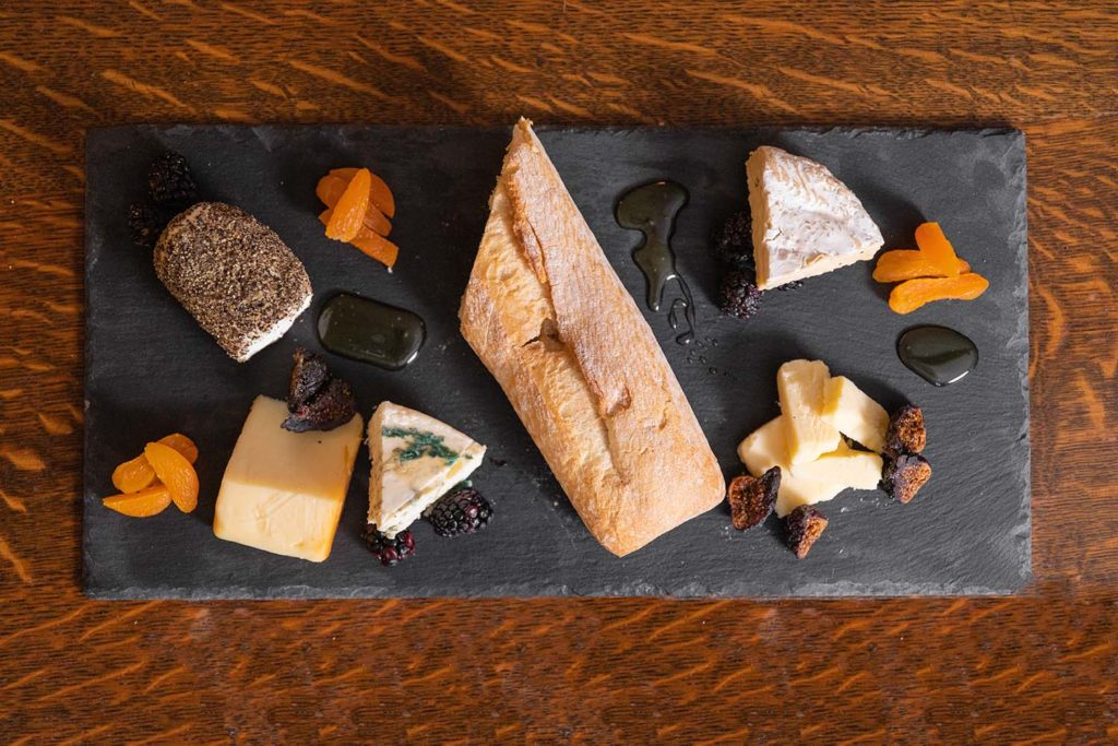 Cheese Plate from the light bites menu in the Plunkett Lounge
